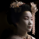 """Memoirs of a Geisha"" by Harry Skeggs, Hahnemühle Fine Art Baryta Paper"