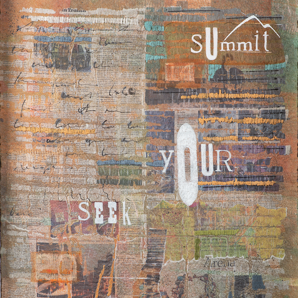 Seek Your Summit by Valerie Zeman, Mixed Media Framed