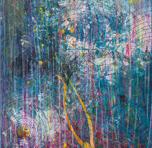 """The Forest"" by Ruzica Sola, Mixed Media on Canvas"