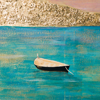 Côte d'Azur by Melissa Fernandes, Mixed Media on Canvas