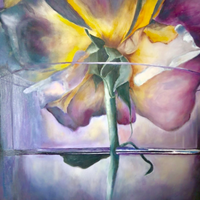 Lonely Flower by Miri Baruch, Oil on Canvas