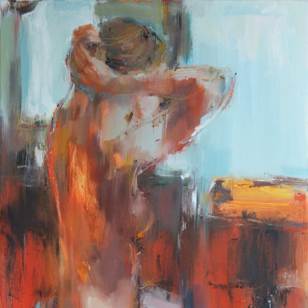 "Silhouette on Red"" by Nelina Trubach-Moshnikova, Oil on Canvas"