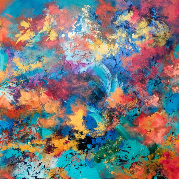 """Sparks of Light"" by Lena Young, Mixed Media on Canvas"