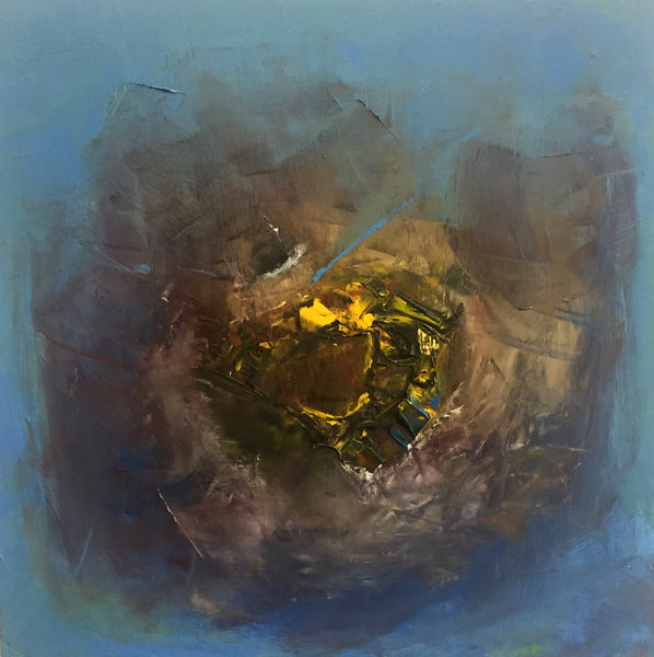 """Untitled"" by Nandini Srinivasan, Oil on Wood Panel"