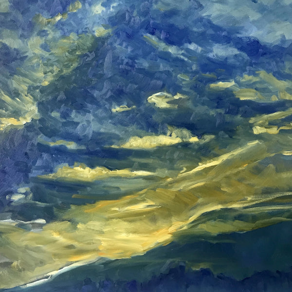 """Kiss the Sky"" by Susan McKenna List, Oil on Canvas"