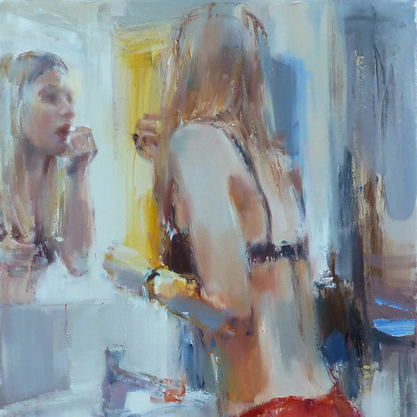 """To a Party"" by Nelina Trubach-Moshnikova, Oil on Canvas"