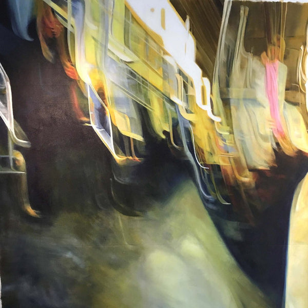 """Underground Angels"" by Eva Stengade, Acrylic on Canvas"