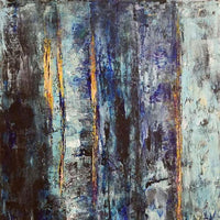 """Blue Woods"" by Vian Borchert, Acrylic on Canvas"