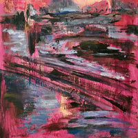 """London Times"" by Vian Borchert, Acrylic on Canvas"