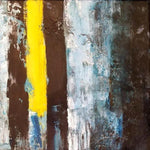"""The Yellow Line"" by Vian Borchert, Acrylic on Canvas"