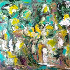 """Water Lillies"" by Aleksandra Wadas Mixed Media on Canvas"