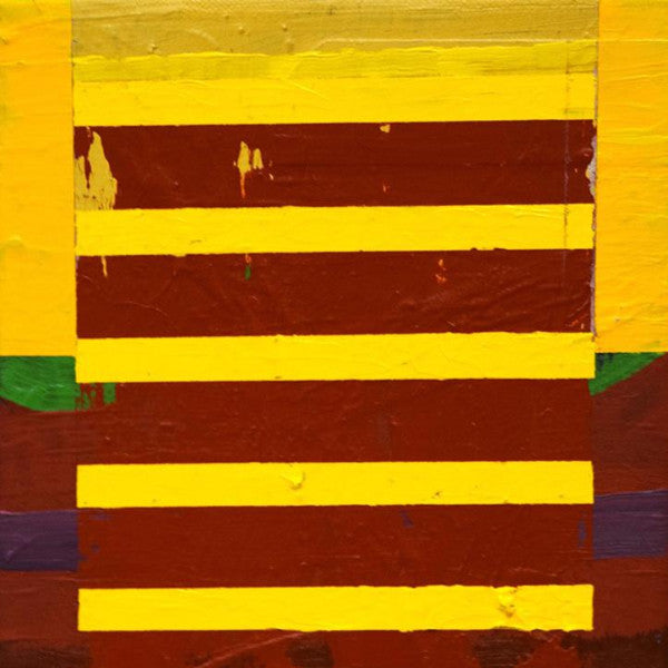 """Yellow Column #2"" by Derek Meier, Acrylic on Canvas"