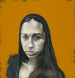 """Yellow Olivia"" by Marc Ouellette, Oil on Canvas"