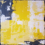 """Yellow Squares"" by Mary Vinnikova, Acrylic on Canvas, Set of 2"