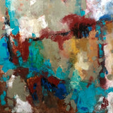 """Abstract Color"" by Miri Baruch, Oil on Canvas"