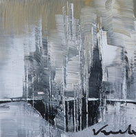 """City Reflection"" by Anna Vranckx, Acrylic on Canvas"