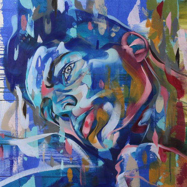"""Flowing Mood"" by Bastien Ducourtioux, Mixed Media on Canvas"
