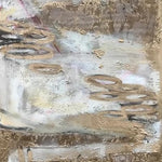 """Thoughtprints on Quicksand Series No. 1"" by Ewa Jaros, Concrete and Acrylic on Canvas"