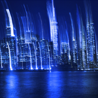 New York Blue by Jochen Cerny, Photography on Alu Dibond covered in Acrylic Glass