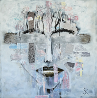 """The Face"" by Susanne Kirsch, Mixed Media on Canvas"
