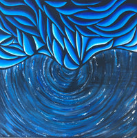 """Icy Vortex"" by Bex, Mixed Media on Canvas"