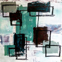 """Parts"" by Sara Ann Rutherford, Mixed Media on Canvas"