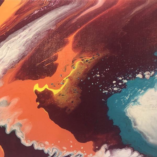 """Volcanic Overflow"" by Whitney Creswell, Acrylic on Cavnas"
