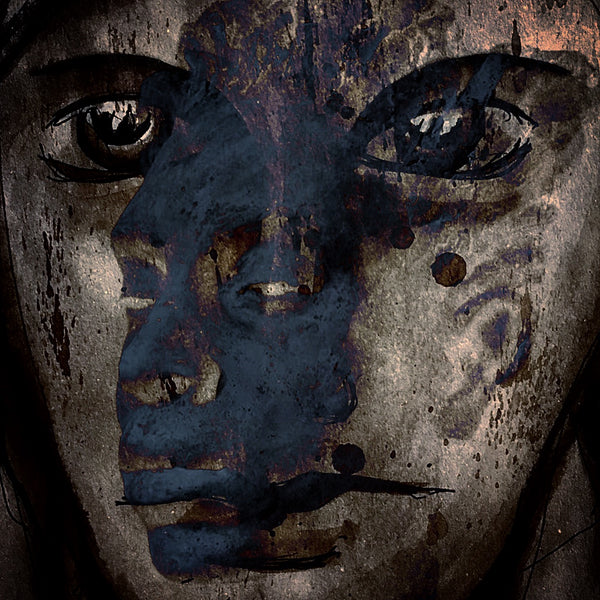 """She was Loving the Blue Boy"" by Payam Yasini, Digital Mixed Media Collage"