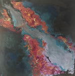 """Afire"" by Christa Weisman, Acrylic Painting"