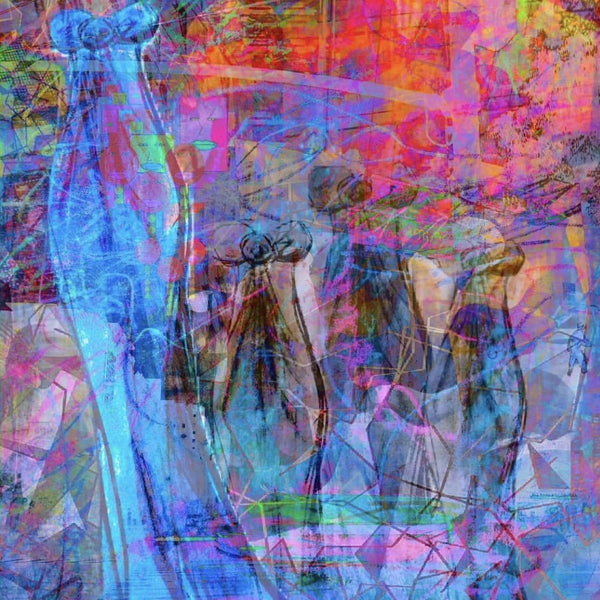 """The Dress"" by Jennifer L Gray & Phillip Johnson, Digital Mixed Media on Canvas"