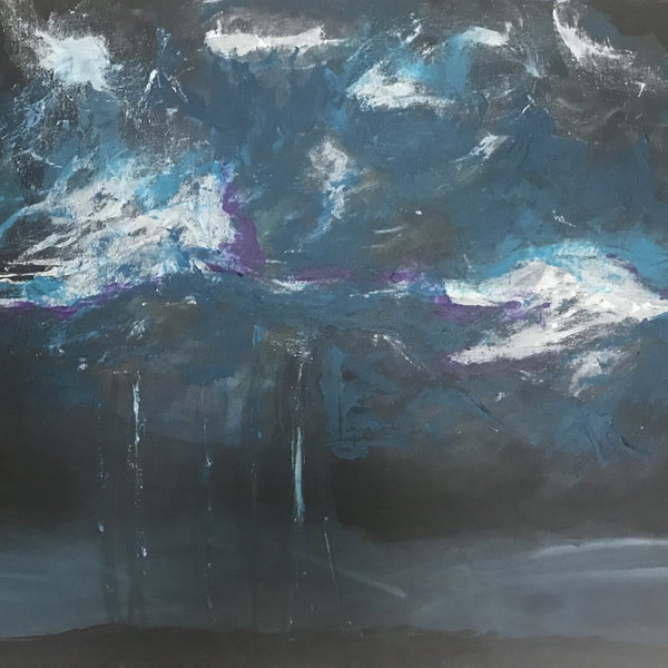 """The Storm"" by Christa Weisman, Acrylic Painting"