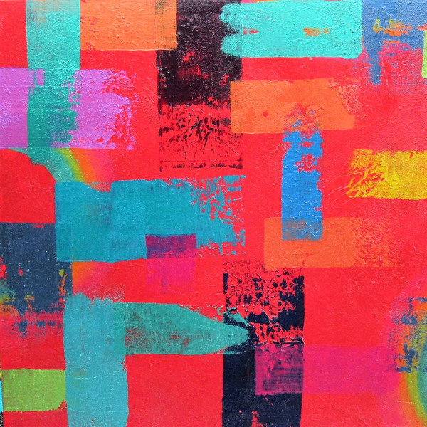 """Untited 14"" by Vicky Watty, Mixed Media on Canvas"
