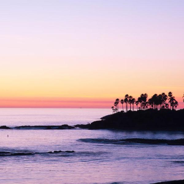 Laguna Beach Sunset Photo Printed on Acrylic Ocean Photo