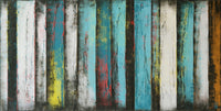 """Turquoise Panels"" by Ronald Hunter, Acrylic on Canvas"