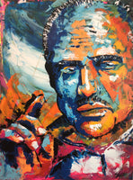 """Marlon Brando"" by Matthew Fellows, Acrylic on Canvas"
