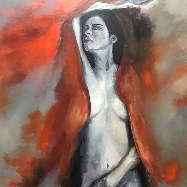 """Naked Flames"" by Miri Baruch, Oil on Canvas"