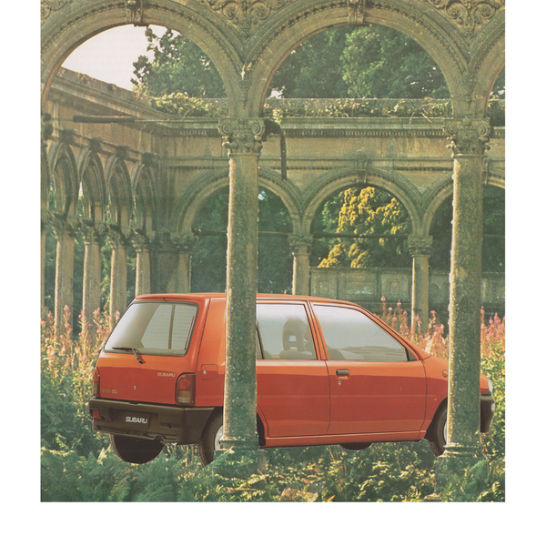 """Perfect Spot to Park my Car"" by Sophia Van Der Meijden, Paper Collage"