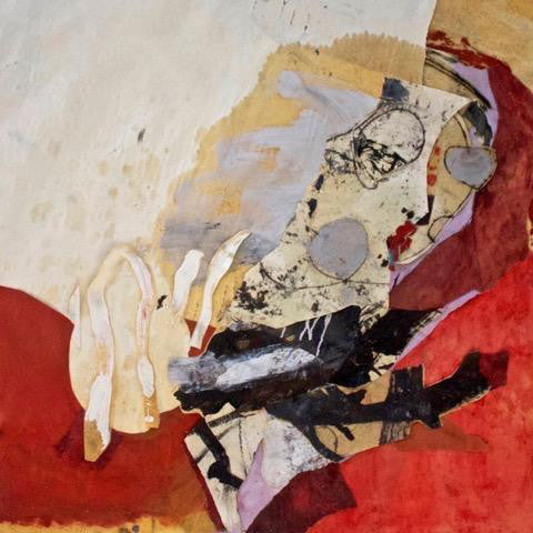 """Pointing to the Uncontrived"" by Hildy Maze,  Oil on Paper Collage"
