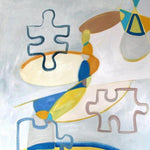 """Connect Three"" by Lydia Larson, Oil on Canvas"