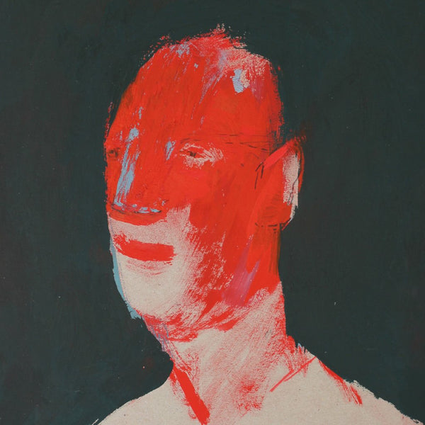 """Red Head"" by Petar Katavic, Acrylic on Cardboard"