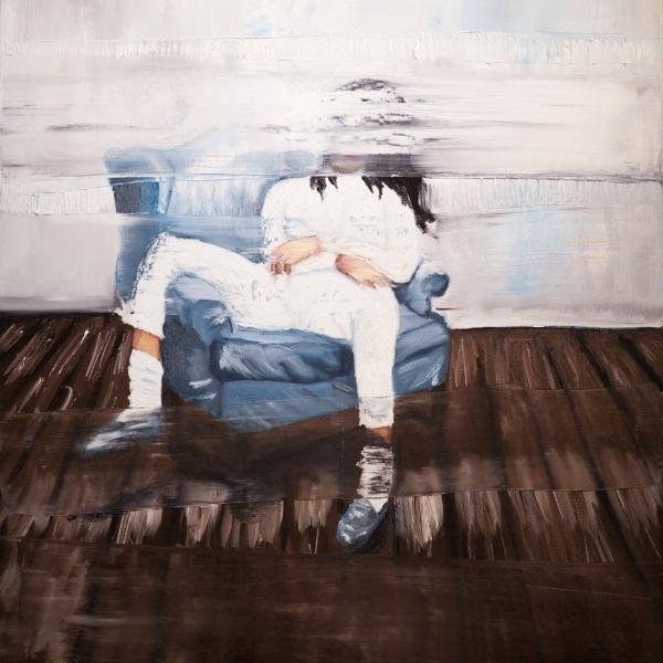 """Relaxed"" by Leandro Puca, Oil on Canvas"
