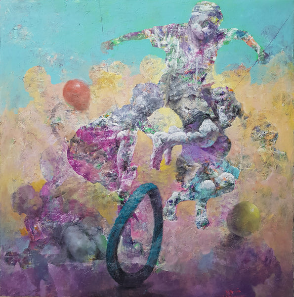 """Rolling"" by Tahseen Al Zaidi, Acrylic on Canvas"