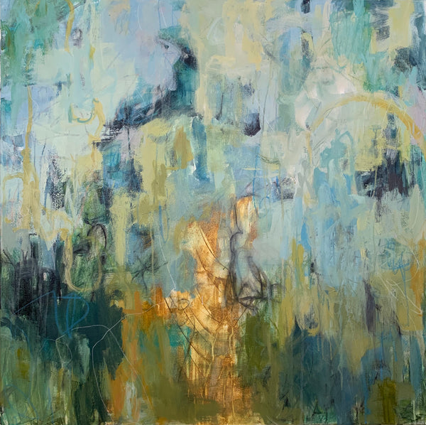 """Sandfly"" by Britt Bair, Acrylic and Mixed Media on Canvas"