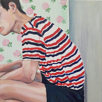 """Teenage Loneliness"" by Amaia Marzabal, Oil on Canvas"
