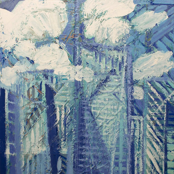 """The Blue City"" by Chunbum Park, Acrylic on Canvas"