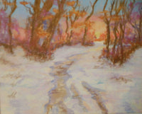 Winter by Cynthia Uden, Framed and Matted, Pastel, Sandpaper