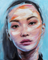 """Zhao"" by Natasa Bezic, Oil on Canvas"