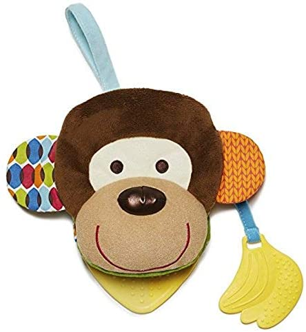 Skip Hop Bandana Buddies Soft Activity Puppet Book, Monkey   تخطي هوب باندانا رفاقا نشاط دمية لينة ، قرد