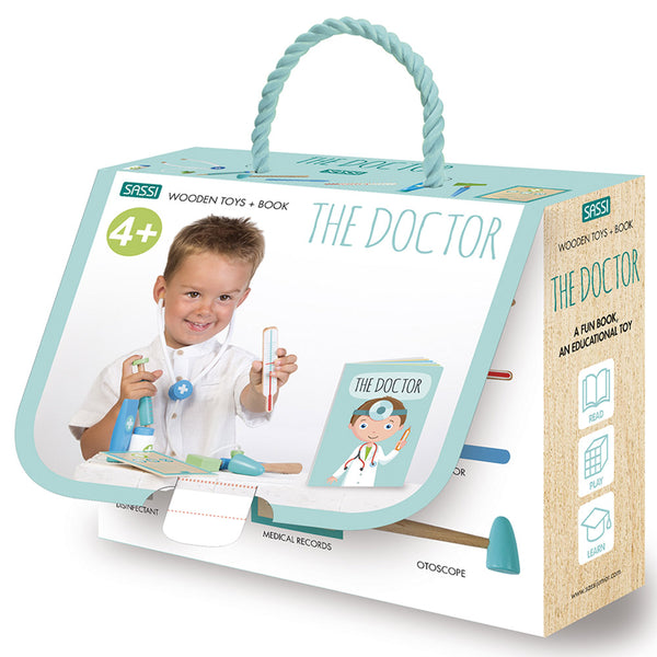 Sassi Book And Wooden Toys - The Doctor    كتاب وألعاب خشبية
