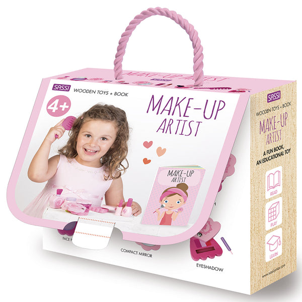 Sassi Book And Wooden Toys - Make-Up Artist   كتاب وألعاب خشبية